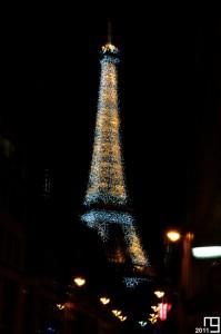 Glittering Eiffel tower