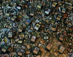 Snapshot of 4,000+ green cards, Magic The Gathering