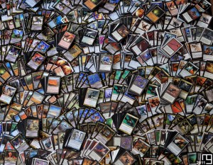 Snapshot of 1,800+ non-basic lands, artifacts and gold cards, Magic The Gathering