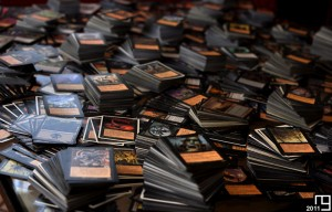 Close shot from 4,200+ black cards, Magic The Gathering