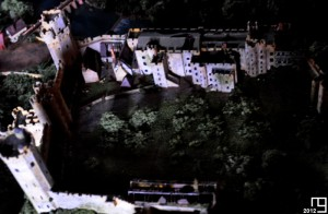 Warwick Castle from the sky